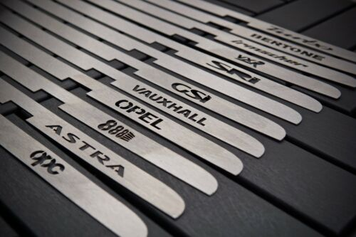 Stainless Steel Plate for Irmscher Grill Astra G MK4 with logo