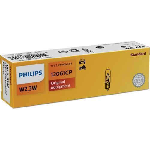 PHILIPS W2,3W 12V 2,3W W2x4,6d Glühlampe Glühbirne 12061CP 10er