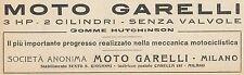 Y7855 Moto GARELLI 3 HP - Pubblicità d'epoca - 1921 Old advertising