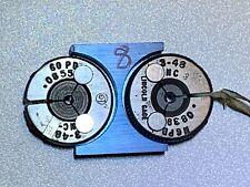 Lincoln Machinist Thread Ring Gage 3 48 Nc Go 0855 No Go Pd 0839
