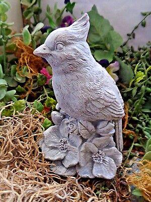 """Mini birdbath mold cardinal bluejay 9/"""" x 1/"""" thick"""
