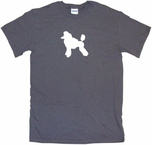 Standard Poodle Dog Silhouette  Mens Tee Shirt Pick Size Color Small-6XL
