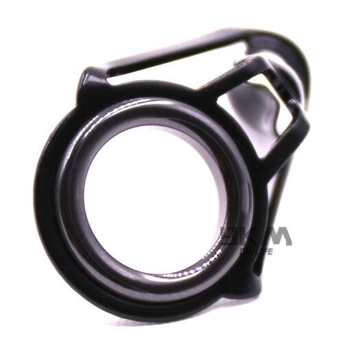 Black 30pcs Sea Fishing Rod Guide Tip Tops Eye Ring Rod Building 4.0mm-5.5mm