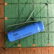 30uf 300v Sprague Axial Electrolytic Capacitor 39d306f300fl5 Hi Voltage Audio