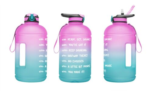 1 Gallon Motivational Sports Water Bottle with Time Marker Sport Water Jug 128oz