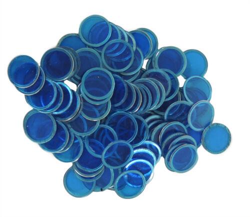 100 COUNT MAGNETIC BINGO CHIPS BLUE