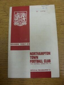 20-01-1968-Northampton-Town-v-Swindon-Town-folded-marked-Writing-on-front