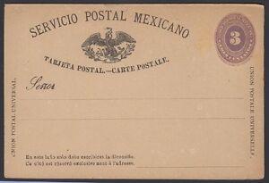 Mexico-1886-Carte-Postale-H-amp-g-21a-Excellent-Etat
