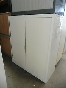 OFFICE-1360MM-WHITE-STATIONARY-CUPBOARD-BRISBANE