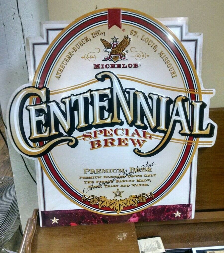 Michelob Vintage Centennial Bar Decor Beer Tin Metal Sign template embossed l1