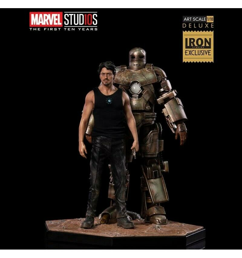 Iron Studios  Marvel - Iron Man - Tony Stark and Mark I - BDS Art Scale 1 10 Del