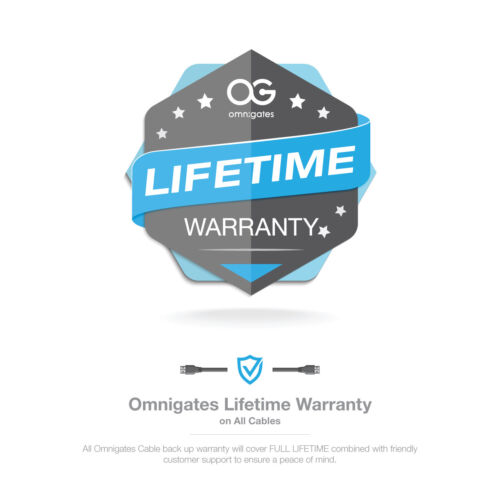 Omnigates 2 Prong Notebook Power Cord NEMA1-15P to C7 18AWG Non-Polarized Laptop