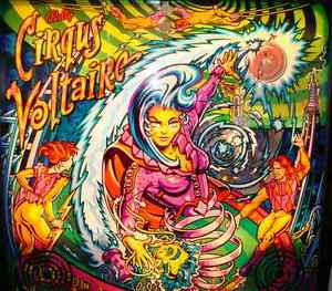 CIRCUS CIRQUS VOLTAIRE MEDIEVAL MADNESS Pinball Multi-Effect Translite Light Mod