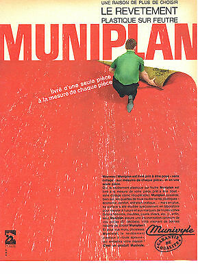 Breweriana, Beer Candid Publicite Advertising 044 1963 Munivyle Revetement De Sol Muniplan