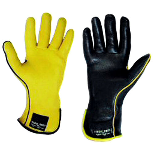 Left Hand 8.5 Size Black Horse Bull Riding Saddle Barn Super Pro Rodeo Gloves