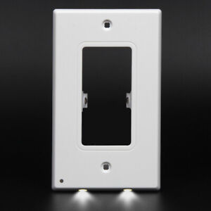 10-Night-Angel-Light-Sensor-LED-Plug-In-Cover-Wall-Outlet-Cover-Coverplate-USA