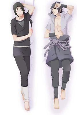 Hot Blood Anime Naruto Sasuke Uchiha Itachi Uzumaki Hugging Body Pillow Case