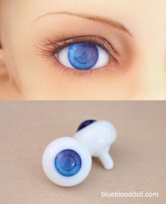 vivid Colorful Iris 14mm Glass Stript BJD Eyes for Iplehouse Doll purple/&Blue