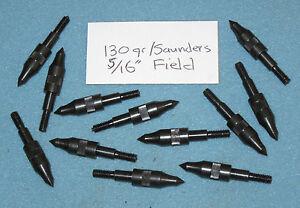 """1-douzaine De 130 G. 5/16"""" Vis-in Field Points Pour Flèches Aluminium-arc/composé-/compoundfr-fr Afficher Le Titre D'origine Design Professionnel"""