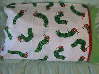 Very Hungry Caterpillar Book Cotton Handmade Standard Queen Pillowcase