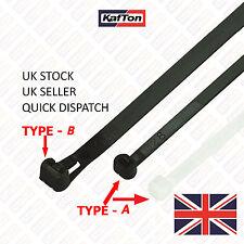 45Pcs Assorted Cable Ties Black Nylon Zip Tie Wraps