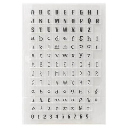 Silicon Transparent Englisch Buchstaben Stempel Siegel DIY Scrapbooking Fotoalbu
