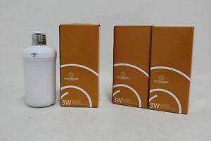 3x-Hudson-DEL-clignotante-flamme-ROTATION-AUTO-3-W-200-lm-E26-Ampoule-120-V-Entierement-neuf-dans-sa