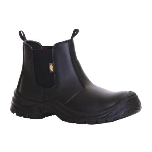 Homme en cuir chelsea dealer de sécurité travail acier embout semelle chaussures bottes