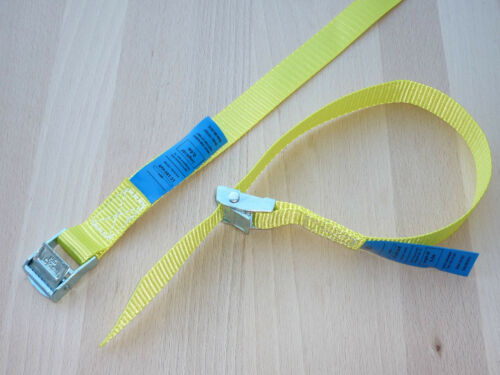 8 x Mini-Zurrgurte Spanngurte Befestigungsriemen Skiträger Fahrradträger gelb