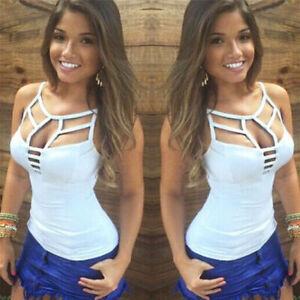 New-Sexy-Women-Summer-Vest-Top-Sleeveless-Blouse-Casual-Tank-Tops-T-Shirt