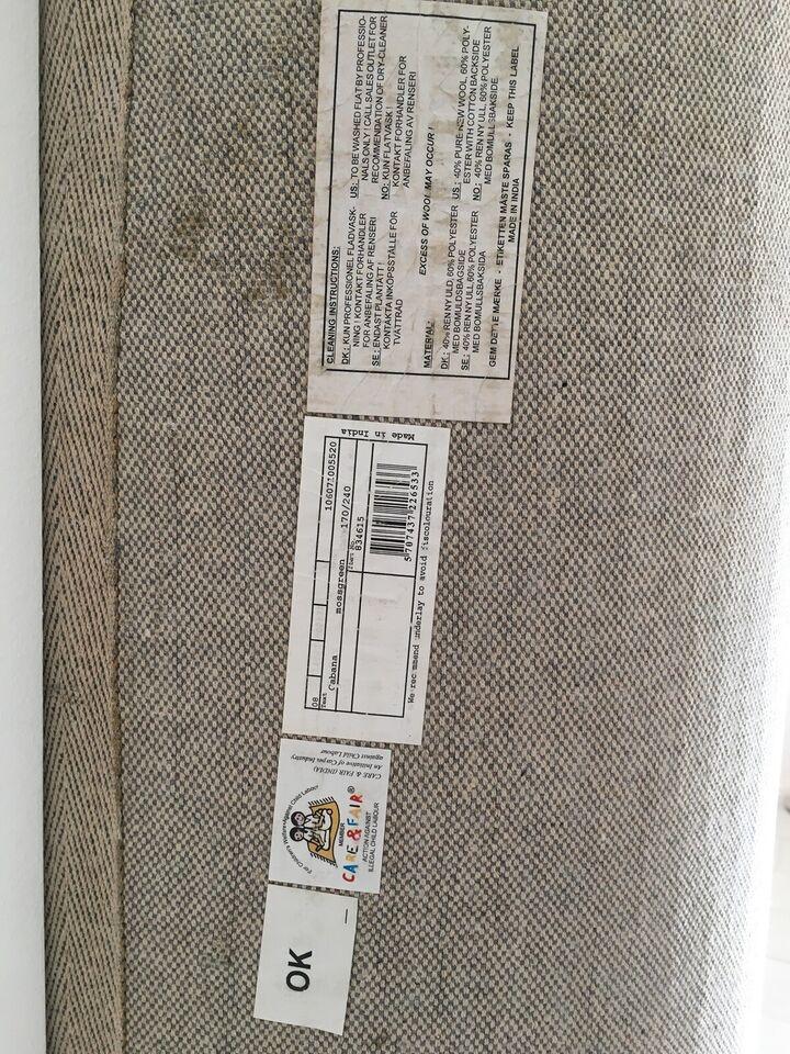 Løse tæpper, Uld & Polyester, b: 170 l: 240