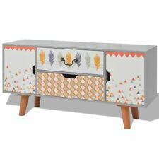 vidaXL Sideboard MDF 110x35x57cm Grey Cupboard Cabinet Storage Unit Stand