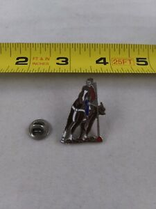 Vintage-COWBOY-Rodeo-Western-style-pinback-button-pin-lapel-tie-rare-GG