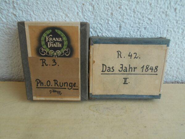 Hart Arbeitend Zwei Päckchen Alte Foto Kranzplatten Neueste Mode