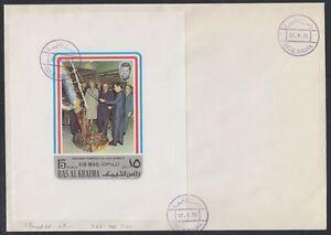 1972-Ras-al-Khaima-FDC-Visit-of-Pompidou-Cape-Kennedy-Space-M-S-white-brd732