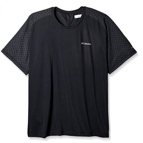 NEW columbia men/'s trail flash short sleeve shirt BLACK MEDIUM