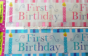 Image Is Loading 9ft Sparkly Foil Pink Or Blue First 1st