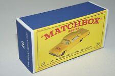 LESNEY/MATCHBOX 'REG.WHEELS' NO.20C, CHEVROLET IMPALA TAXI  REPLICA BOX ONLY