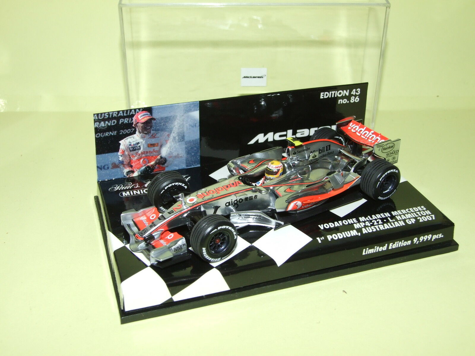 McLAREN MERCEDES MP4-22 2007  HAMILTON MINICHAMPS
