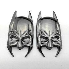 2x Metal Chrome Batman Mask Logo Badge Car Trunk Tailgate Emblem Decal Stickers