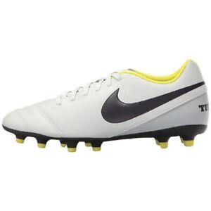NEW Nike Women's Tiempo Rio III FG (Pure Platinum) 819258 - 053 Size 6.5
