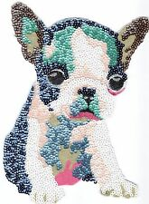 Sequin Patch: Colorful Boston Terrier