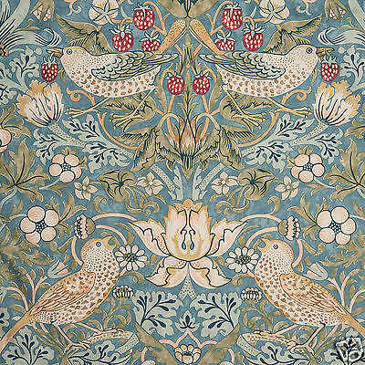William Morris Strawberry Thief Slate Lined Curtains - Various sizes