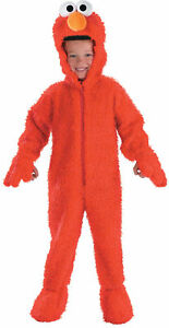 Elmo-Plush-Deluxe-Child-Costume-Toddler-Sesame-Street-Red-Jumpsuit-Halloween