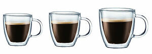 Bodum Bistro Double-Wall Insulated Glass Espresso Mugs 2-Pack, 3 Sizes