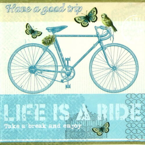 4x Paper Napkins for Decoupage Decopatch Craft Life is a ride