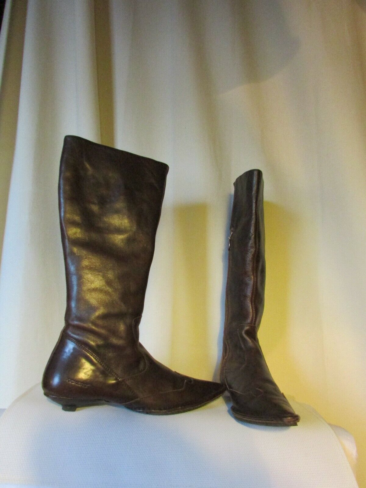 Boots Kickers Leather Brown Size 39