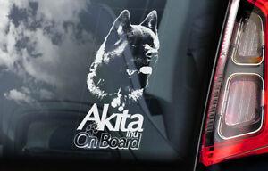 Akita-On-Board-Auto-Finestrino-Adesivo-Americana-Inu-Ken-Firmare-Regalo-Idea