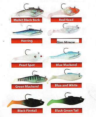 FISHING TSUNAMI TAZER 8in GLASS MINNOW 2pk