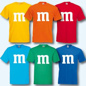Herren-T-Shirt-Fun-Shirt-M-amp-M-Kostuem-Karneval-Fasching-Gruppenkostuem